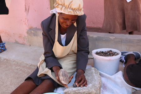 """Process of """"Marula Nuts"""" been taken out from the seed which could be consume directly or becomes the raw material of Marula oil which we sell."""